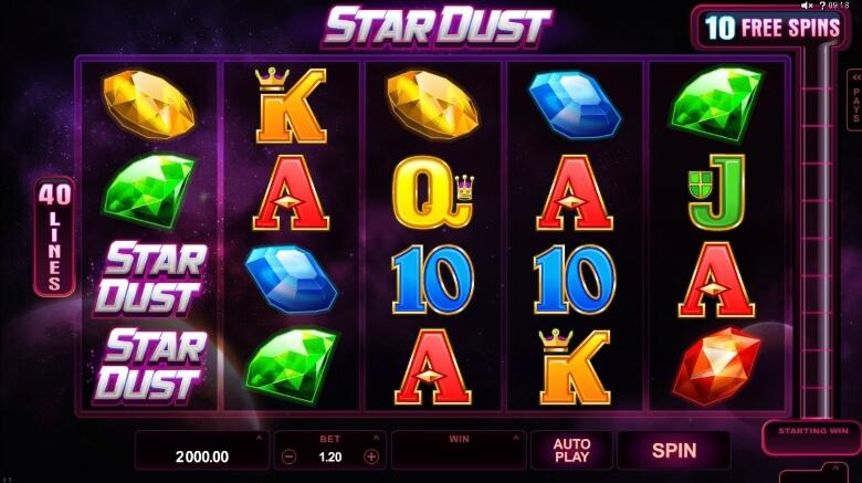 Stardust video slot