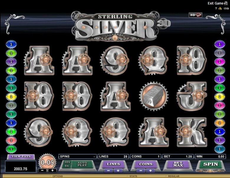 Sterling Silver Video Slot