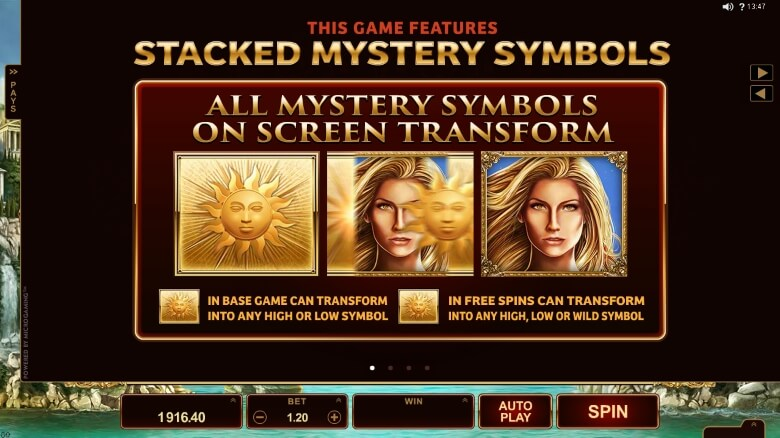 Titans of the Sun Theia slot by Microgaming
