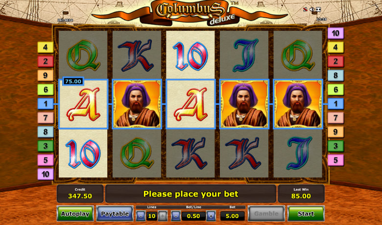 Columbus Deluxe - Video Slot