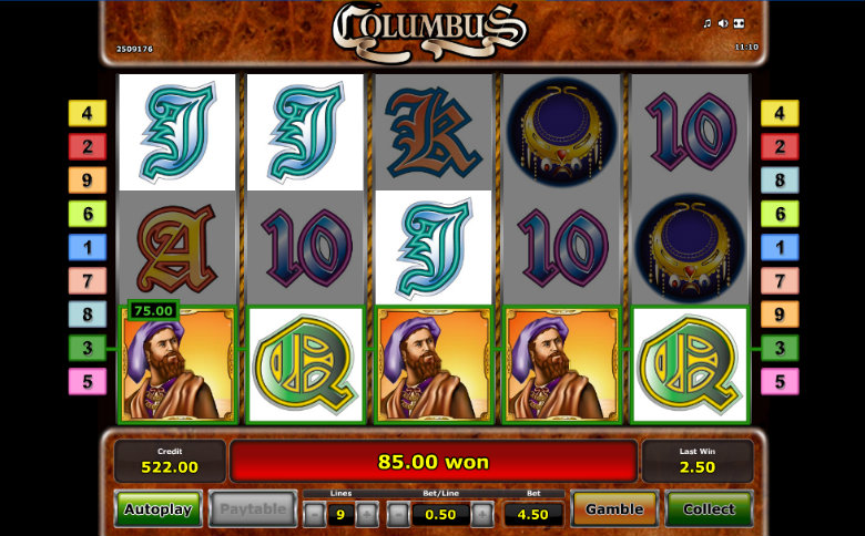 Columbus - Video Slot