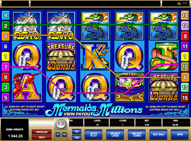 Mermaid's Millions - Video Slot