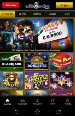 Millionaire Mobile Casino - Casino Bonuses & Casino Rewards