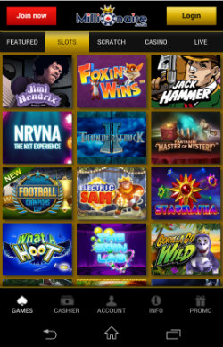 Millionaire Mobile Casino - Mobile Slots