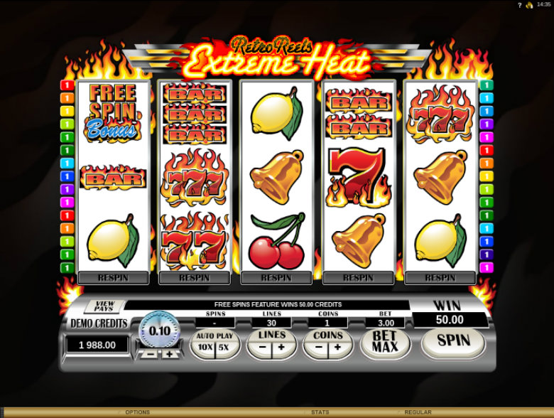 Retro Reels: Extreme Heat - Video Slot