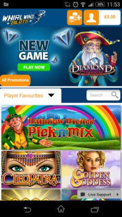 Get casino rewards & casino bonuses at Whirlwind Slots Mobile