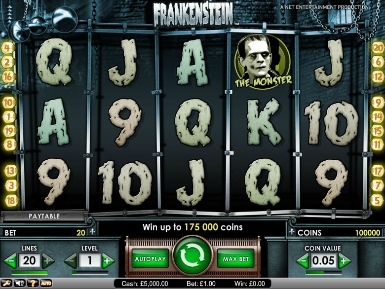 Frankenstein Video Slot