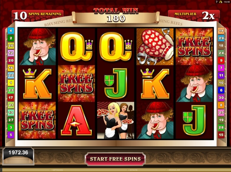 Spiele Rhyming Reels: Hearts & Tarts - Video Slots Online