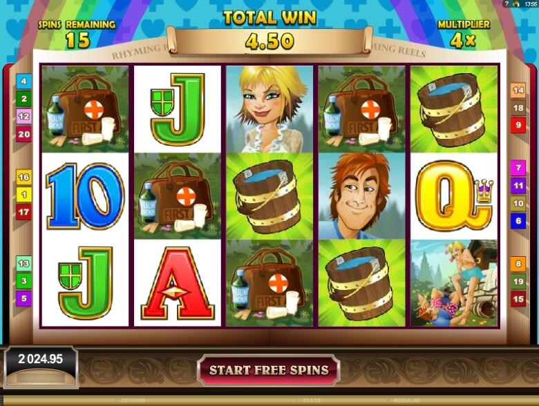 Rhyming Reels Jack & Jill online slot