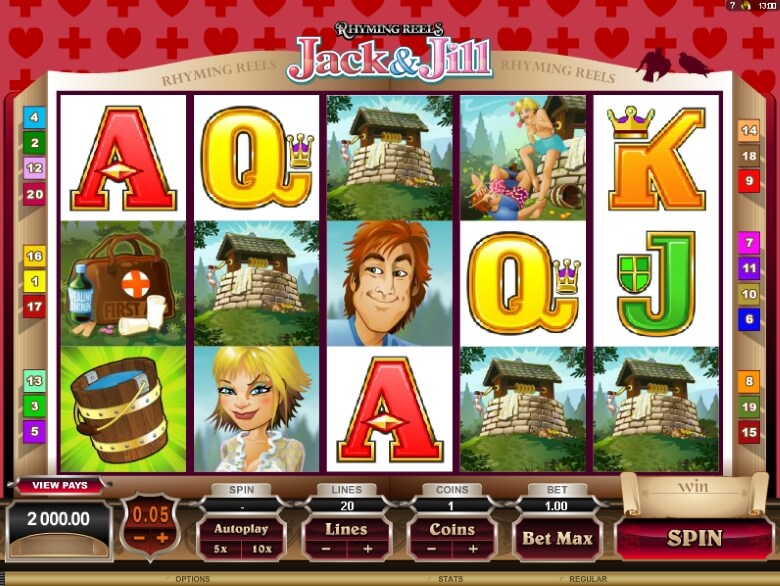 Rhyming Reels Jack & Jill video slot