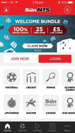 SunCasino Mobile App | Get up to £100 bonus on your first deposit.