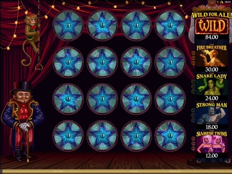 The Twisted Circus slot by Microgaming