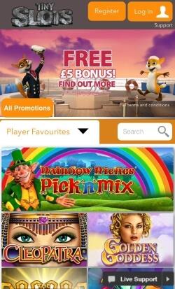 Tiny Slots Mobile Casino
