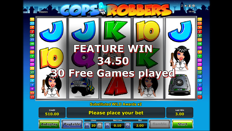 Cops And Robbers - Online Slot