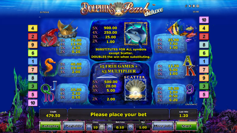 online casino games to play for free dolphins pearl