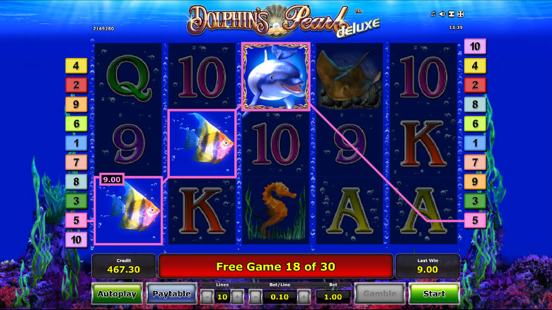 Dolphin's Pearl Deluxe - Video Slot