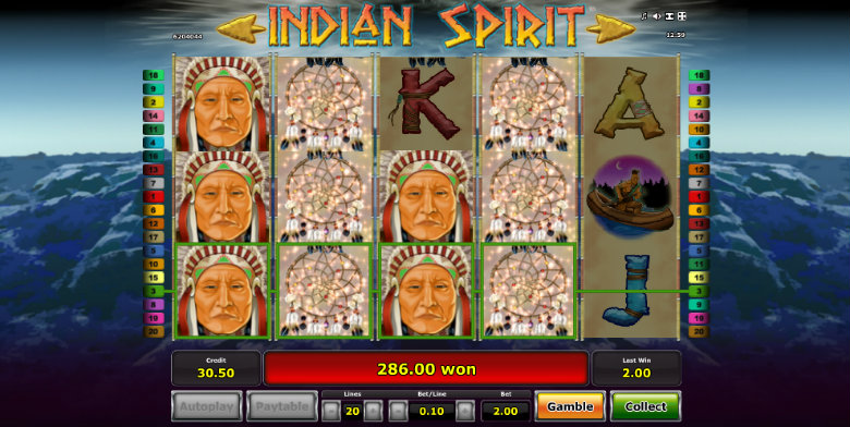 Indian Spirit - Video Slot