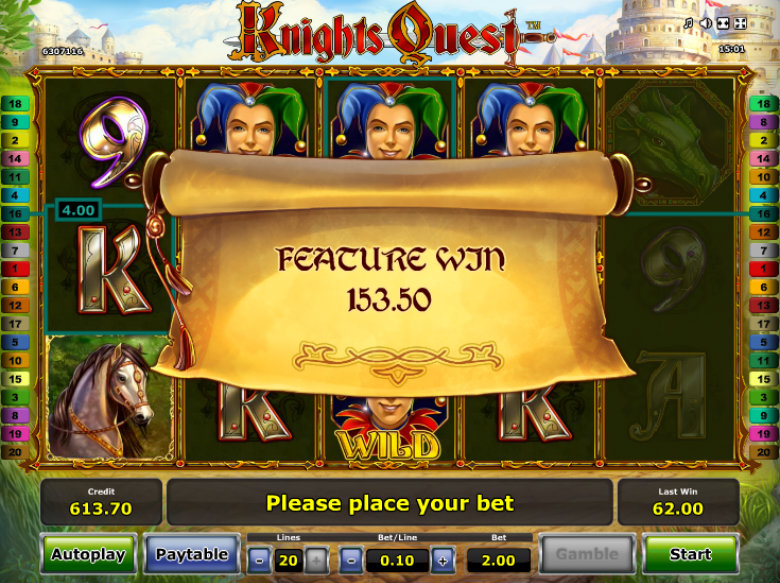 Knight's Quest - Video Slot