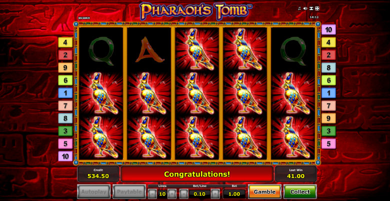 Pharaoh's Tomb - Video Slot