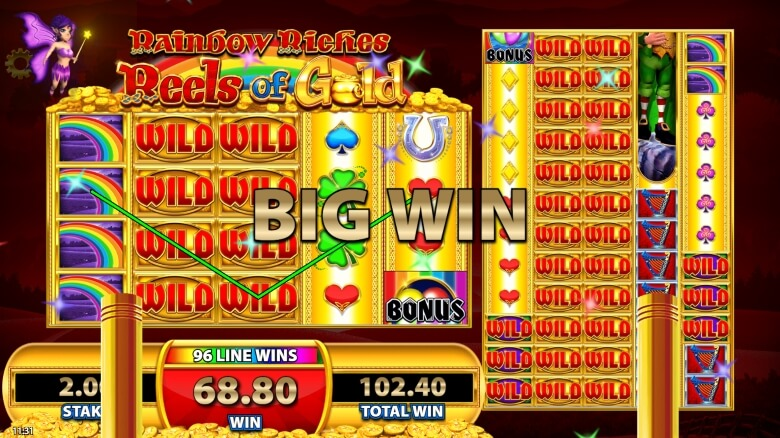 Rainbow Riches Reels of Gold video slot