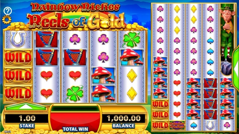 Rainbow Riches Reels of Gold By SG Interactive and Barcrest