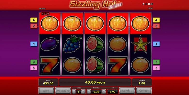 sizzling hot slot free