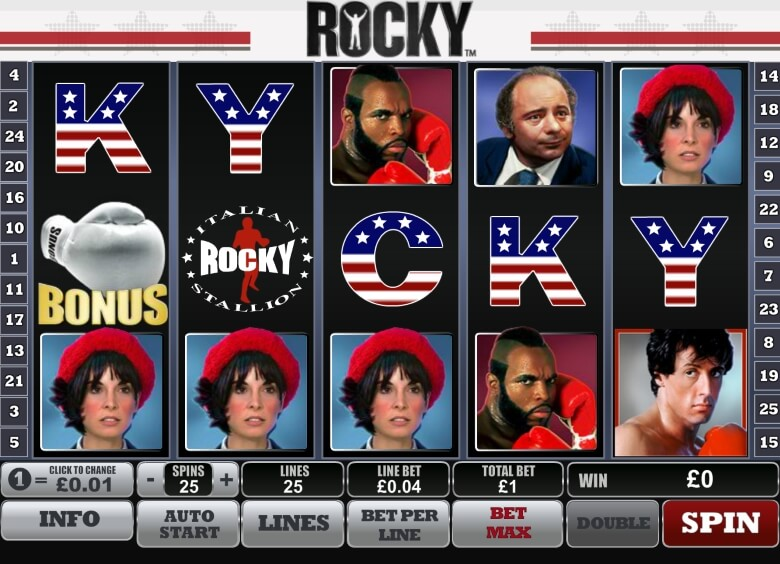 Rocky slot by Playtech