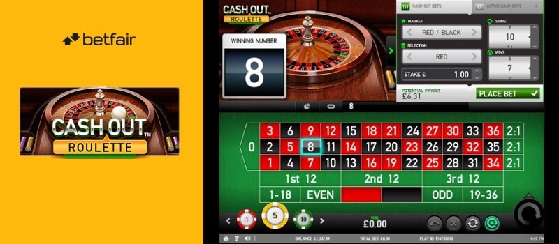 NEW Cash Out Roulette at Betfair Image