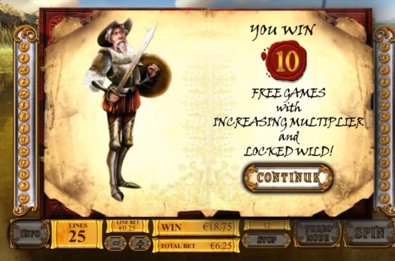 The Riches of Don Quixote online slot