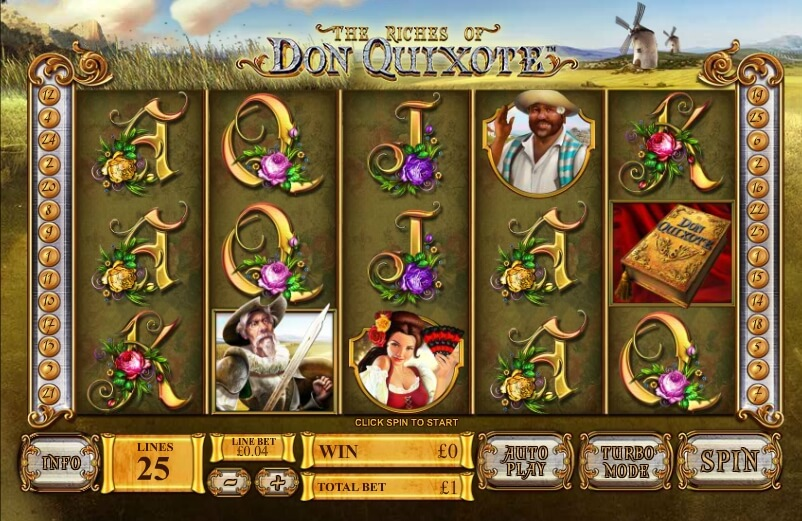 The Riches of Don Quixote by Playtech