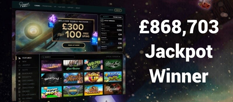 Player Scoops £868,703 at Prospect Hall Casino Image