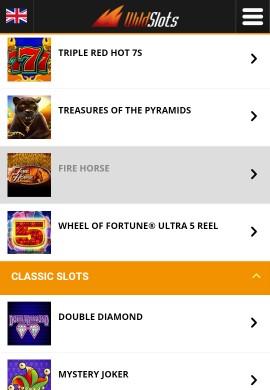 Wild Slots Mobile - Casino Games Lobby