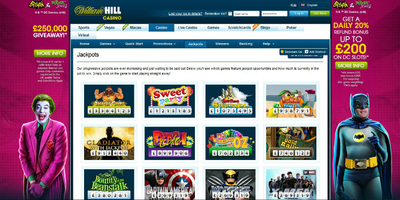 william hill slots free play