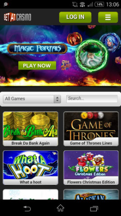 BETAT Mobile Casino - Video Slots