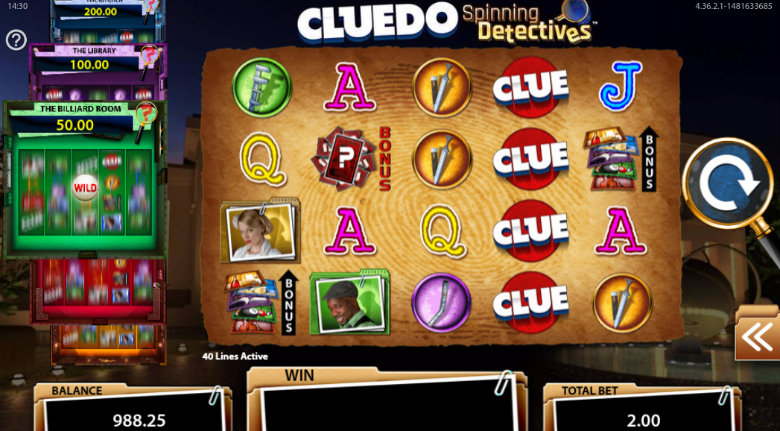 Cluedo Spinning Detectives - Video Slot