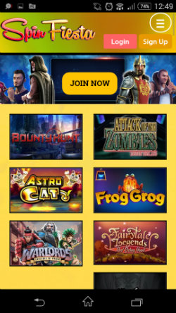 Spin Fiesta Mobile Casino - Casino Games