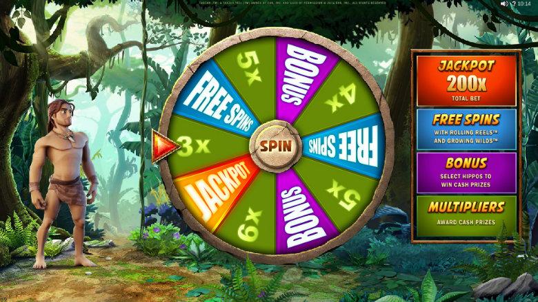 Tarzan - Bonus Wheel