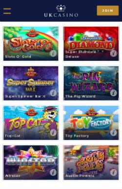 UK Casino Mobile - Casino Bonuses