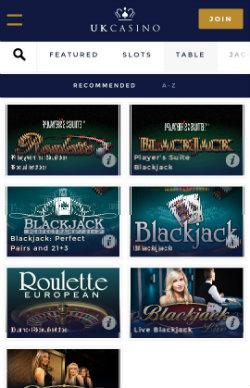 UK Casino Mobile - Casino Rewards
