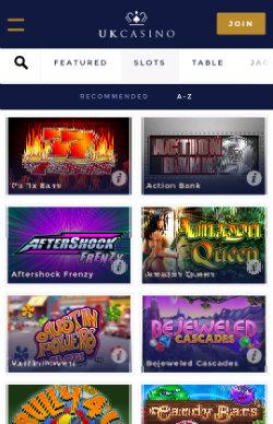 UK Casino Mobile - Mobile Slots