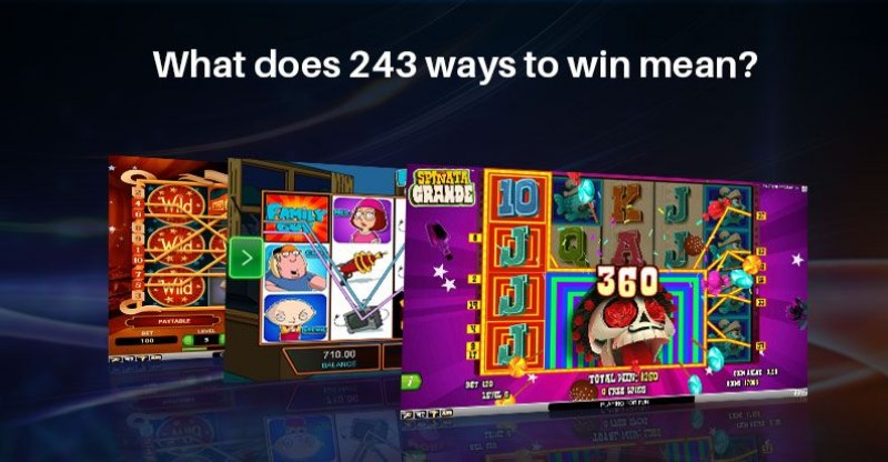 What does 243 ways to win mean? Image
